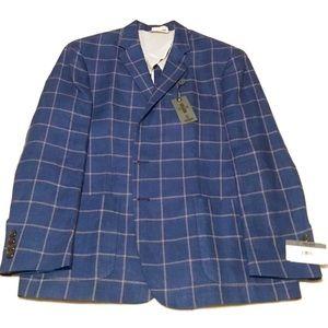 NWT Todd Snyder Mayfair Linen Blazer 44R Blue